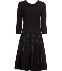 abito in maglia con lavorazione a righe (nero) - bodyflirt