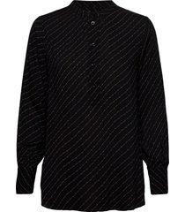 molla blouse blouse lange mouwen zwart second female