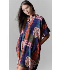 natori bukhara silky soft caftan dress, women's, size l