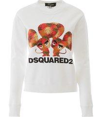 dsquared2 mouse print sweatshirt