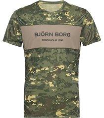 blocked tee sthlm sthlm t-shirts short-sleeved grön björn borg