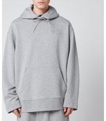 y-3 men's classic chest logo hoodie - grey - xl