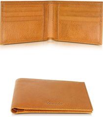 pineider designer men's bags, country cognac leather billfold wallet