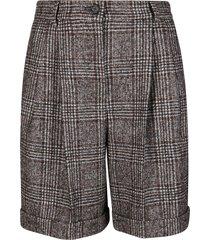 dolce & gabbana brown wool-alpaca blend shorts