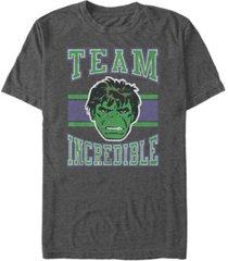 marvel men's classic hulk team incredible collegiate, short sleeve t-shirt