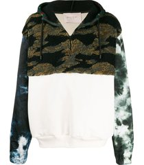 buscemi printed fleece hoodie - white