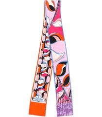 emilio pucci sequin detailed printed scarf - pink