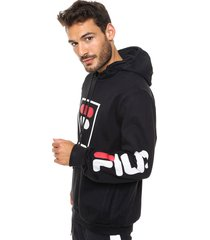 buzo  negro  fila  fbox hoodie