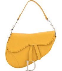 christian dior pre-owned saddle shoulder bag - yellow