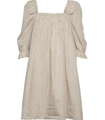 2nd tiana stripe knälång klänning beige 2ndday