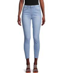 joe's jeans women's high-rise stripe skinny ankle jeans - vintage pinstripe - size 27 (4)