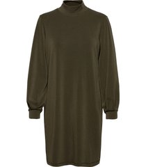 dhelle dress jurk knielengte groen denim hunter