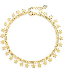 continuous star 14k goldplated bracelet