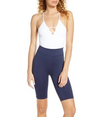 women's fp movement dance all day bodysuit, size x-small/small - white