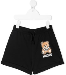 moschino jersey shorts with teddy bear print