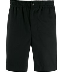 ami paris men elasticised waist bermuda shorts - black