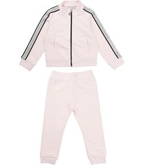 moncler full zip sweatshirt with pink trousers