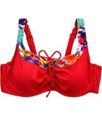 bikini copa c-d blanda estampado rojos samia
