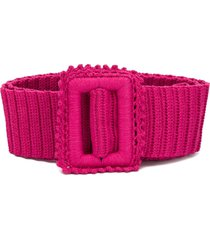 msgm crochet knit belt - pink