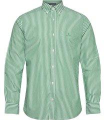 reg broadcloth stripe bd skjorta casual grön gant