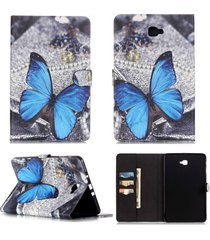 galaxy tab a 10.1 case,t580 case,xyx [blue butterfly] pu leather wallet case kic