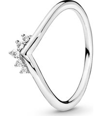 anel chevron coroa brilhante