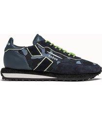 ghoud sneakers rush low colore blu camouflage