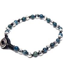 pulsera de hombre azul 1 giro mini pietre blu man colection by vestopazzo