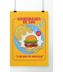 poster hambúrguer de siri