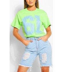 61 collegiate t-shirt, lime