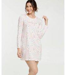 camisola estampa floral manga longa marisa - 10039561091 feminina