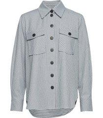dicte overshirt 11477 overhemd met lange mouwen blauw samsøe samsøe