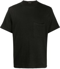 evan kinori short sleeve sweatshirt - black