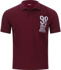 polo hombre down town color vino, talla m