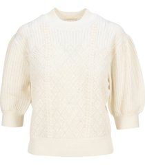 see by chloé see by chloe puff sleeves sweater