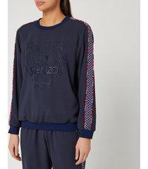 kenzo women's tiger sweatshirt - midnight blue - l