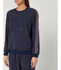 kenzo women's tiger sweatshirt - midnight blue - l