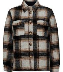 amber shirt jacket ulljacka jacka svart second female