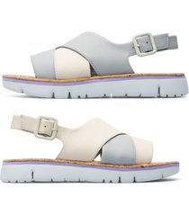 camper twins, sandali donna, beige/grigio, misura 42 (eu), k201061-002