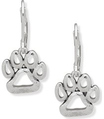 pet friends jewelry open paw drop earring