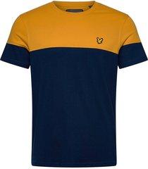 chest block t-shirt t-shirts short-sleeved gul lyle & scott sport