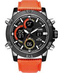 reloj correa nylon smael deportivo cronómetro antigolpes