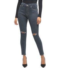 plus size women's good american always fits high waist skinny jeans, size 20-26 - blue