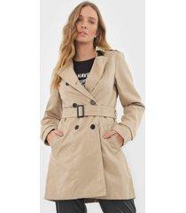 casaco trench coat vero moda botãµes bege - bege - feminino - poliã©ster - dafiti
