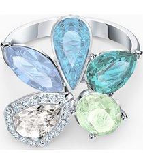 anello sunny, multicolore chiaro, placcato rodio