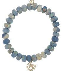 horseshoe blue opal bracelet