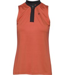 turf zip sl women t-shirts & tops polos orange peak performance