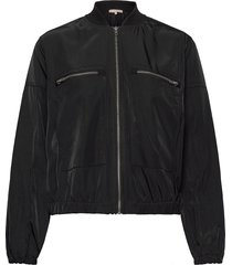 evalia bomber jacket bomberjack zwart soft rebels
