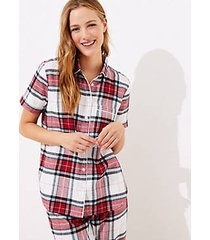 loft plaid pajama top