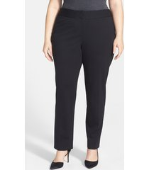 plus size women's vince camuto stretch trousers, size 18w - black